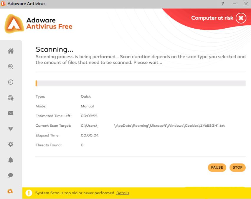 Adaware Interface