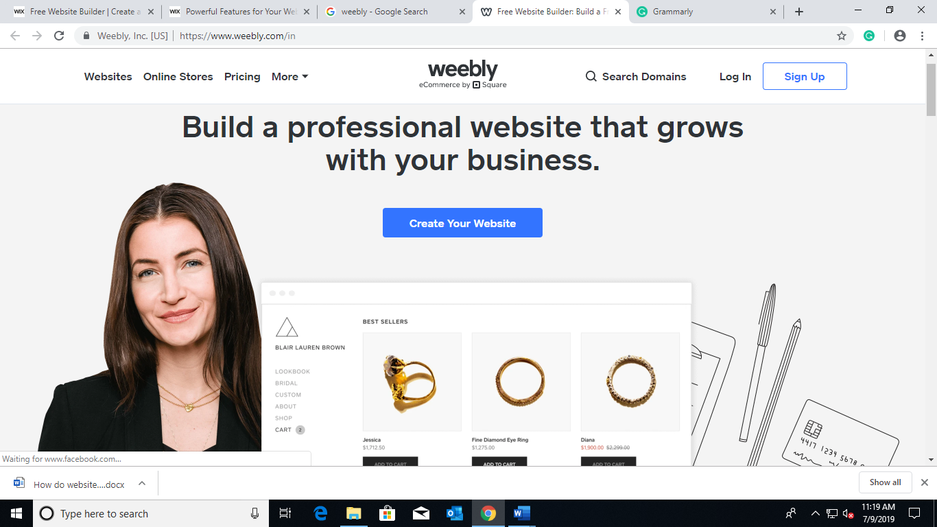 Creating-a Website builder