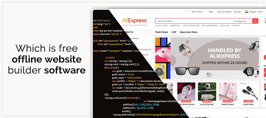 Which is free offline website builder software