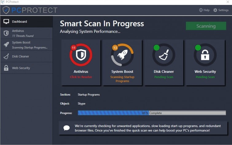 PC Protect Smart Scan